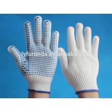 Gants en points de PVC, gants de travail anti-coupe et antidérapants
