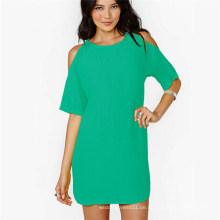 Sommer-heißer Verkauf weg-Schulter-Chiffon- loses beiläufiges Mini-Mode-Kleid