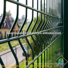 1.8 * 3m the green pvc coated welded triangular bending fence