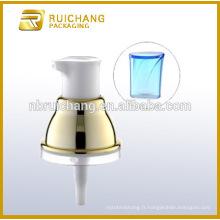Pompe à lotions en plastique UV avec AS overcap / 20mm crème lotion pompe / uv coating lotion pump dispenser