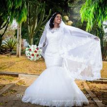 Latest Gowns Alibaba Elegant White Mermaid Lace Wedding Dresses Vestidos de Novia with Beading 2016 LW258