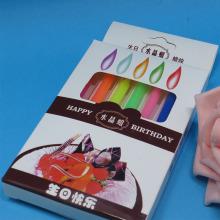 Bougies d'anniversaire numéro sprial rayé coloré