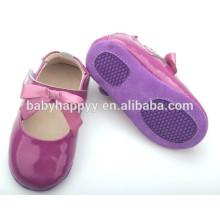 Zapatos formales formales de cuero púrpuras de los bebés del precio barato al por mayor
