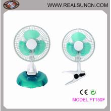 Настольный вентилятор с вентилятором Два в одном - 6 дюймов