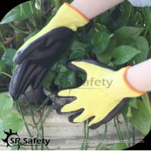 SRSAFETY cheap price/nitrile coating work gloves EN388 3121/work gloves