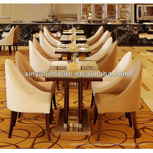 XY-0796 Restaurant set, 1 table with 4 arm chairs