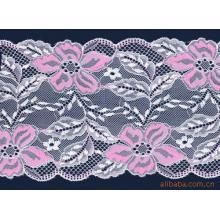 Branco quente venda comum projeta nylon renda tecido de algodão para roupa interior