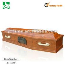 caixão de madeira antigo barato cremação JS-E096