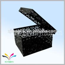 Chino fábrica nuevo estilo cuadrado archivo de hierro carta titular caja de relieve de metal con tapa