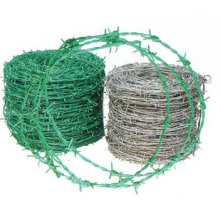 offer PVC plastic coated barbed wire with green various colors