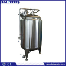 KUNBO 200-500L Stainless Steel Vertical Milk Cooling Storage Tank