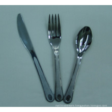 High Quality Silver Color Disposable Plastic Cutlery/Silver Coated Plastic Cutlery