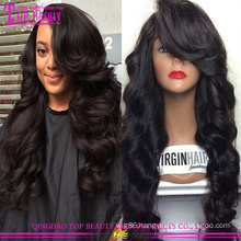 2015 New Arrival Wholesale Price human lace front wigs 100% Peruvian Hair Lace Wig