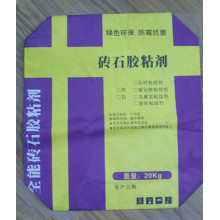 Bolsa de Papel Kraft para Adhesivo de Ladrillo 20kg