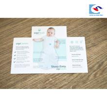 Carpeta de folletos de impresión personalizada para la promoción de productos para bebés