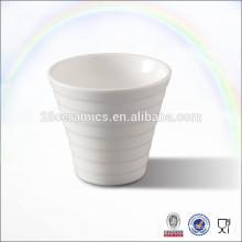 Plain white ceramic cheap tea cups no handle for hotel