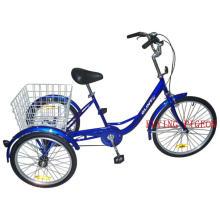 O pedal ajudou ao triciclo da velocidade três do triciclo o único