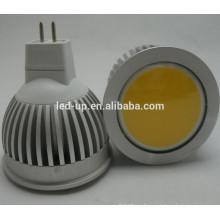 5w gu10 COB led bombilla dimmable 100V-240V GU10 COB LED Proyector llevado bombillas caliente blanco CE