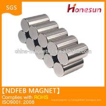 Хорошее качество N38 цилиндра неодимовый магнит D8x12mm