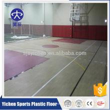 100% pure pvc wear layer anti-slip basketball flooring
