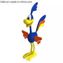 Kundengebundene Karikatur Donald Duck Model Plastic Figure Toys