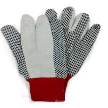 Gants en coton à coté pointu Gant de travail à main de sécurité industrielle
