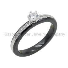 925 серебряных украшений с керамическим кольцом, украшения для зубов (R21127)