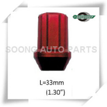 Red Racing Aluminum Wheel Lug Nuts Colored Aluminum Wheel Lug Nuts