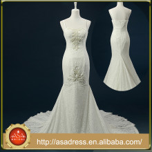 RASA-22 Real Design Spaghetti Strap Robe de mariée de mariée avec Tain Lace Applique Perles Bodice Robe de mariée Dentelle pour mariage