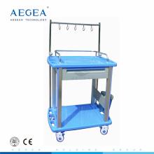 AG-IT002A3 ABS plastique IV traitement utilisé chariots de blanchisserie hôpital médical