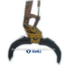 Pince hydraulique YUCHAI YC135 YC160, grappin de fixation de pelle, grappin à bois
