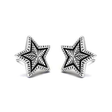 Boucles d'oreilles couleur argent bijoux en acier inoxydable unisexe en acier inoxydable 316L