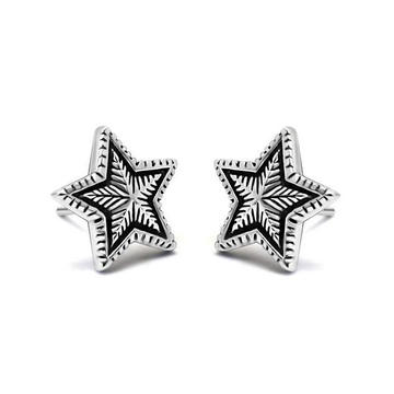 Silver Color Stud Earrings 316L Stainless Steel Unisex Fashion Jewellery