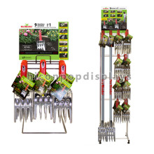 Kundenspezifische Logo-Arbeitsplatte Kundenspezifische Größe Commerical Metalldraht-Landwirtschafts-Werkzeug-Haken-Klipp-Anzeigen-Zahnstange