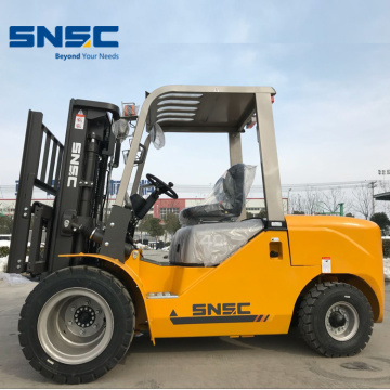 4 Ton Double Front Tirs Diesel Forklift