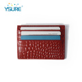 Cena fabryczna Pu Leather Business Credit Card Holder