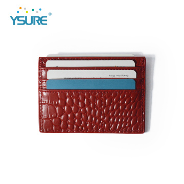 Custom Logo Ultra Slim Saffiano Leather Card Holder