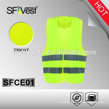 2015 hot sell high visibility yellow traffic warning safety vest children