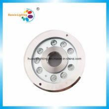 Lumière imperméable de fontaine de la CE RoHS LED de l'acier inoxydable IP68