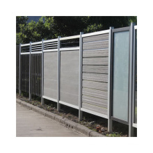 New Style WPC Garden Fence Wood Plastic Composite Fence Factory