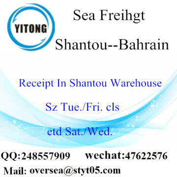 Shantou Port LCL Consolidation To Bahrain