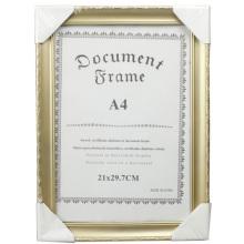 Золотой красивый A4 фрейм документа
