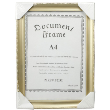 Or A4 beau Document cadre