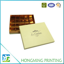 Luxury Gold Cardboard Divider Chocolate Packaging Box