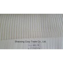 Nouveau tissu de rideau transparent Organza VoIP à rayures de projet populaire 008298