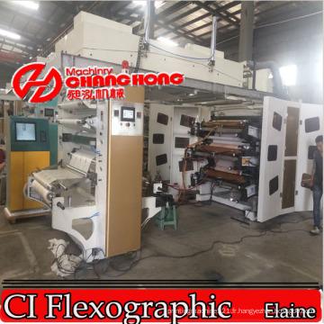 Machine d'impression flexographique de film de conservation / film rétractable