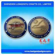 Moneda de metal pequeña 3D con logotipo divertido