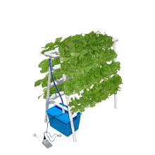 Double side hydroponic system for planting vegetables