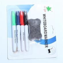 4PCS Whiteboard Marker Pen and Eraser Set, Stationery Set (SJB-201)