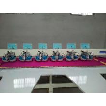 Máquina automática de diamantes de imitación de fijación en caliente de múltiples cabezales para sari, vestido y galabia
